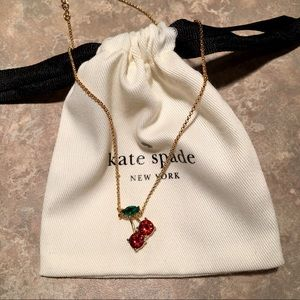 Kate Spade ♠️ Crystal Cherry Pendant Necklace